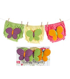 Baby Aspen Baby Girls' 3-peice Butterfly Bloomers for Fluttering Bums