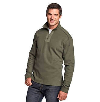 Paradise Collection® Men's Flatback Ribbed Quarter-Zip Henley Top