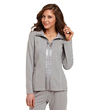 Laura Ashley® Zip-Front Jacket with Satin Trim