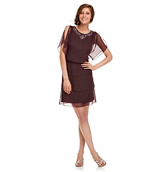 Alex Evenings® Beaded Chiffon Cocktail Dress