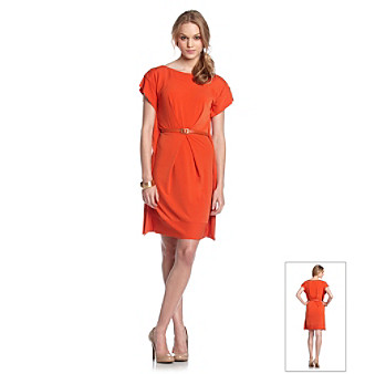 Vince Camuto® Boatneck Belted Shift Dress
