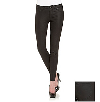 Fire® Juniors' Black Shimmer Skinny Jeans