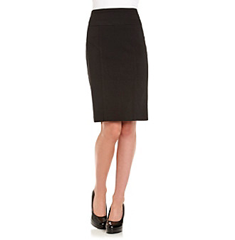 XOXO® Juniors' Black Seamed Career Skirt