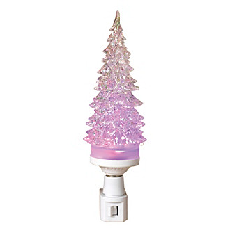 Gerson Pink Christmas Tree Nightlight