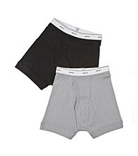 Jockey Boys' Grey/Black 2-pk. Boxer Briefs