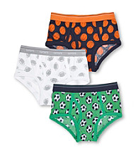 Carter's® Boys' 2-5 Green/White/Navy 3-pk. Sports Briefs