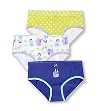 Carter's® Girls' 2-5 Green/Purple/White 3-pk. Princess Castle Panties