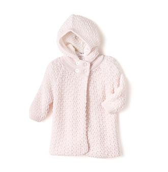 Cuddle Bear® Baby Girls' Pink Sweater Caplet
