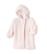 Cuddle Bear® Baby Girls' Pink Sweater Caplet