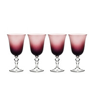 Mikasa® Charade Set of 4 Plum Goblet Glasses