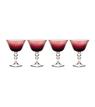 Mikasa® Charade Set of 4 Plum Margarita Glasses