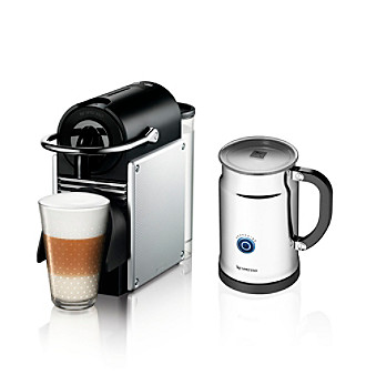 Nespresso® Pixie Espresso Maker and Aeroccino Frother + $50 Nespresso Club Credit