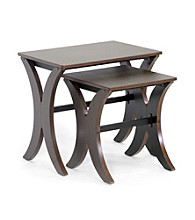 Baxton Studios Xavier Brown Modern Nesting Table Set