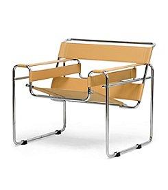 Baxton Studios Jericho Tan Mid-Century Modern Accent Chair