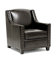 Baxton Studios Wallace Dark Brown Modern Club Chair
