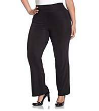 AGB® Plus Size Relaxed Fit Black Scuba Pant