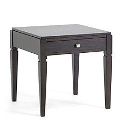 Baxton Studios Haley Dark Brown Wood Modern End Table with Drawer