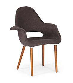 Baxton Studios Set of Two Forza Mid-Century Modern Armchairs