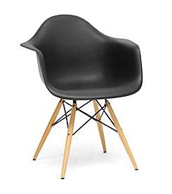 Baxton Studios Set of 2 Pascal Plastic Mid-Century Modern Shell Chairs