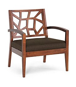 Baxton Studios Jennifer Modern Lounge Chair with Dark Brown Fabric Seat