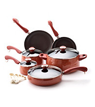 Paula Deen® Signature Porcelain Enamel Nonstick 15-pc. Coral Speckle Cookware Set