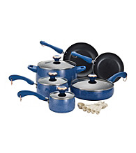 Paula Deen® Signature Porcelain Enamel Nonstick 15-pc. Blueberry Speckle Cookware Set
