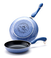 Paula Deen® Signature Porcelain Enamel Nonstick Set of 2 Blueberry Speckle Skillets