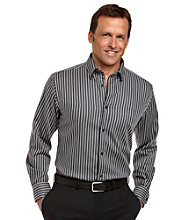 Kenneth Roberts Platinum® Men's Black Houndstooth Stripe Buttondown Shirt