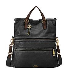 Fossil Black Explorer Tote Bag