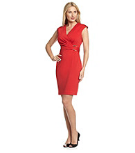 Calvin Klein Sheath Dress with Side Ring Detail