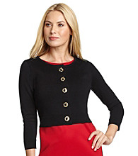 Calvin Klein Sweater Shrug with Toggle Buttons