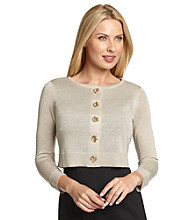 Calvin Klein Metallic Sweater Shrug with Toggle Buttons