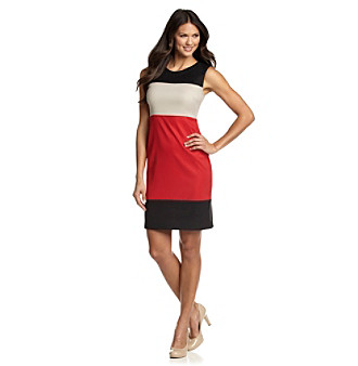 AGB® Black Multi Colorblock Sheath Dress