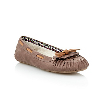 "MIA® ""Blanche"" Fleece-lined Moccasin - Taupe"