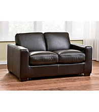 Natuzzi Editions® Sleep Solutions Leather Sleeper Loveseat