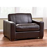 Natuzzi Editions® Sleep Solutions Leather Sleeper Chair