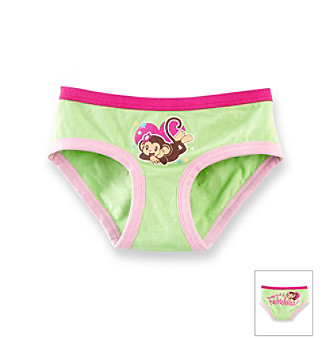 "St. Eve® Intimates Girls' 6-16 Green ""Small & Fabulous"" Monkey Panty"