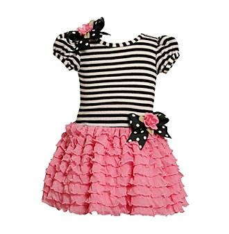 Bonnie Jean® Girls' 2T-4T Black/White Striped Tutu Dress
