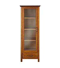 Elegant Home Fashions® Avery Linen Oil Oak 1-Door and 1-Bottom Drawer Linen Cabinet