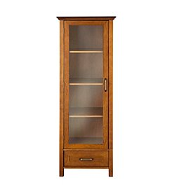 Elegant Home Fashions® Avery Linen Oil Oak One Door and Bottom Drawer Linen Cabinet