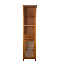 Elegant Home Fashions® Avery Oil Oak 1-Door and 3-Open Shelf Linen Cabinet