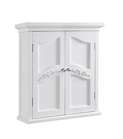 Elegant Home Fashions® Versailles White Two-Door Wall Cabinet