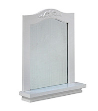 Elegant Home Fashions® Versailles White Wall Mirror with Shelf
