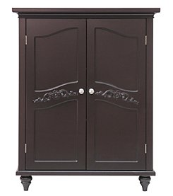 Elegant Home Fashions® Versailles Dark Espresso Two-Door Floor Cabinet