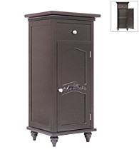 Elegant Home Fashions® Versailles Dark Espresso 1-Door and 1-Drawer Floor Cabinet