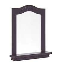 Elegant Home Fashions® Versailles Dark Espresso Wall Mirror with Shelf