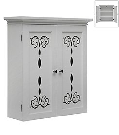 Elegant Home Fashions® Dallia White 2-Door Wall Cabinet