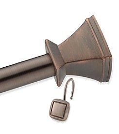 Elegant Home Fashions® Square Decorative Shower Rod and Hook Set