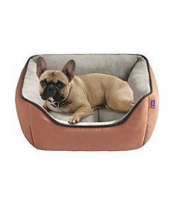 Halo Reversible Rectangular Faux Suede Cuddler Dog Bed