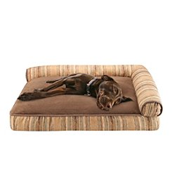 Soft Touch Heritage & Chocolate Jacquard Right Angle Bolster Pet Lounger